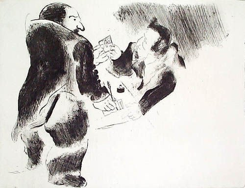 15: MARC CHAGALL  Set of 3 Etchings from Les Ames Morte