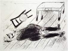 17 MARC CHAGALL  Set of 3 Etchings from Les Ames Morte