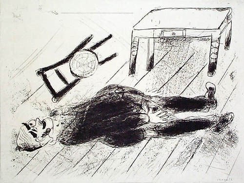 17: MARC CHAGALL  Set of 3 Etchings from Les Ames Morte