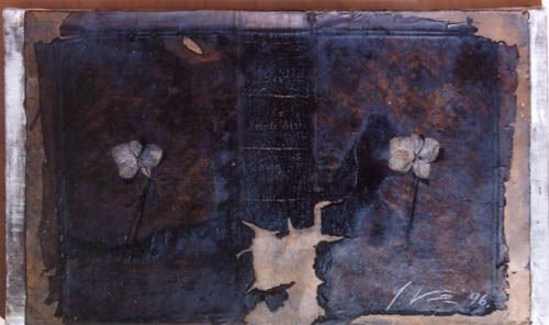 63: YURI KUPER  Old Book with Flowers