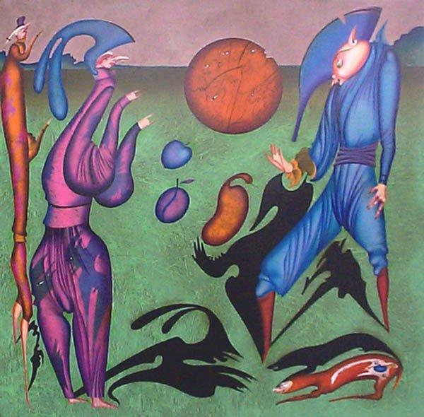 23A: MIHAIL CHEMIAKIN Shadows (on canvas)