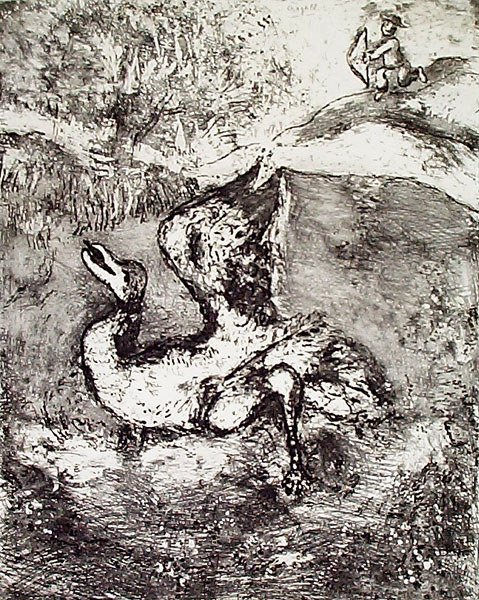 4: MARC CHAGALL Etching from the Fables de La Fontaine