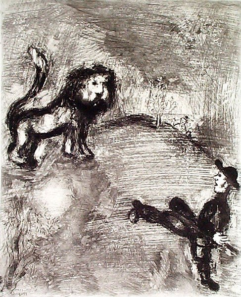 5: MARC CHAGALL Etching from the Fables de La Fontaine
