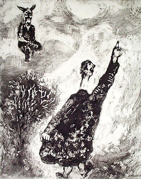 6: MARC CHAGALL Etching from the Fables de La Fontaine