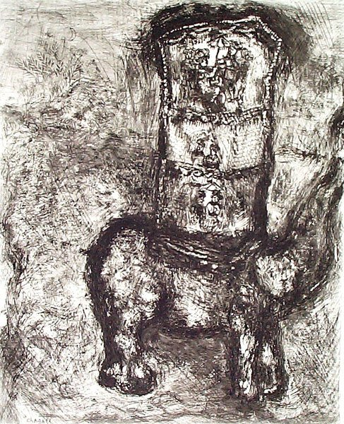 7: MARC CHAGALL Etching from the Fables de La Fontaine