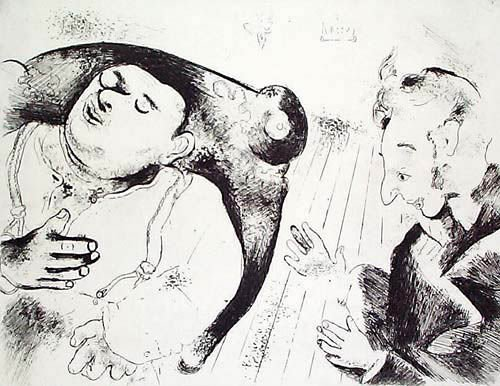 10: MARC CHAGALL  Etching from Les Ames Mortes Suite