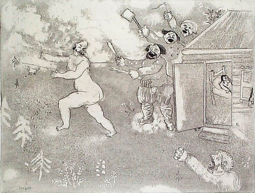 12: MARC CHAGALL  Etching from Les Ames Mortes Suite