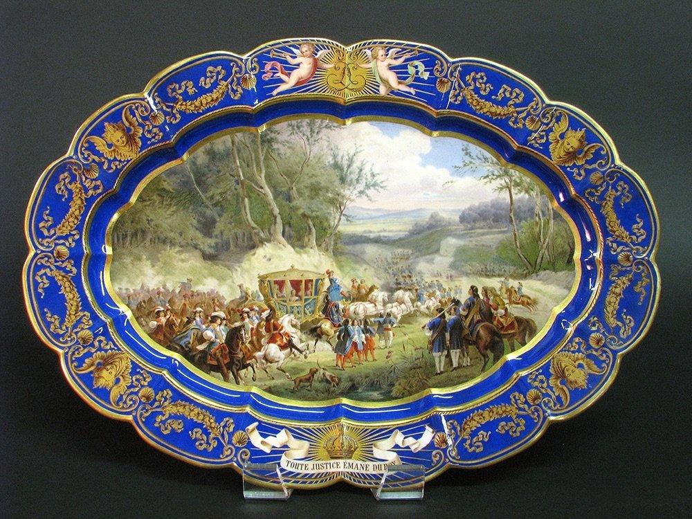 LARGE 19TH CENTURY MEISSEN PLATER