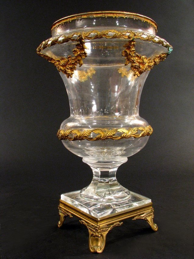 ORMOLU MOUTED BACCARAT GLASS VASE