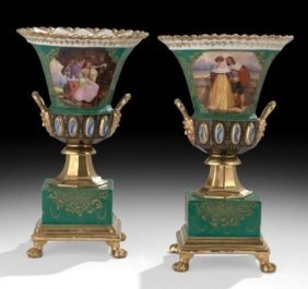 Pair Of 19th Century Jacob Petit Porcelain Vases