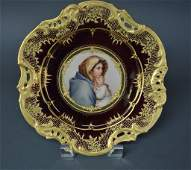 19TH CENTURY ROYAL VIENNA RETICULATED PLATE