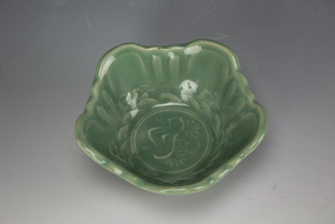 A celadon porcelain bowl - 5
