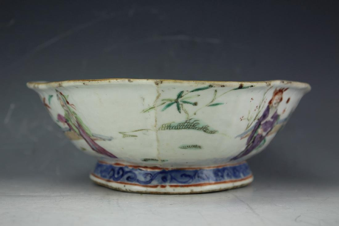 A Famille rose porcelain fruit plate from late Qing - 2