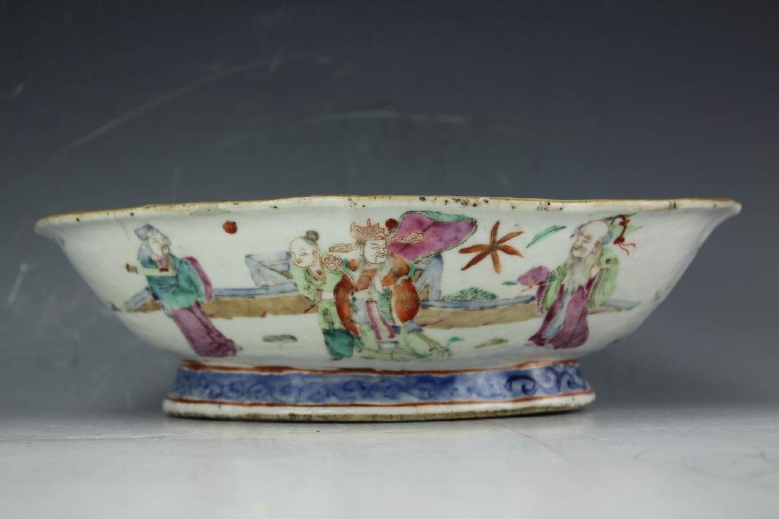 A Famille rose porcelain fruit plate from late Qing - 3