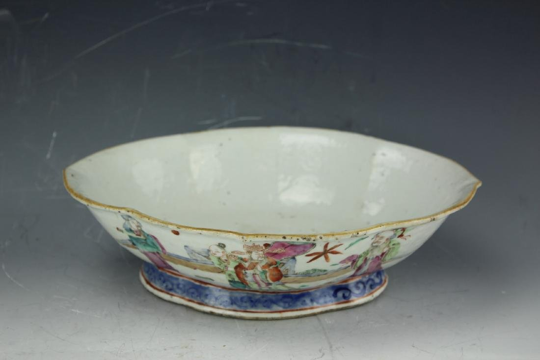 A Famille rose porcelain fruit plate from late Qing - 4