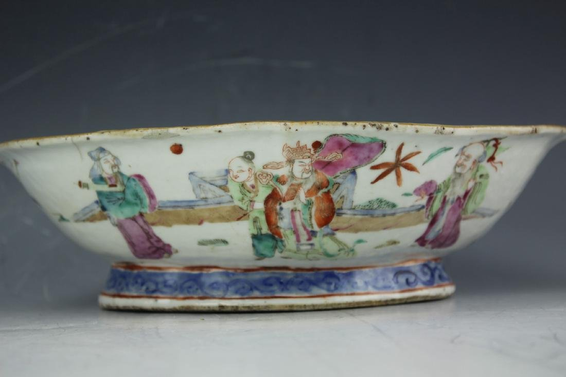 A Famille rose porcelain fruit plate from late Qing - 5