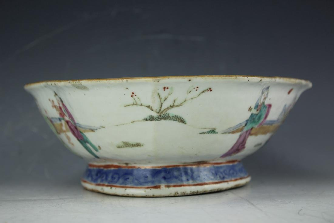 A Famille rose porcelain fruit plate from late Qing - 6