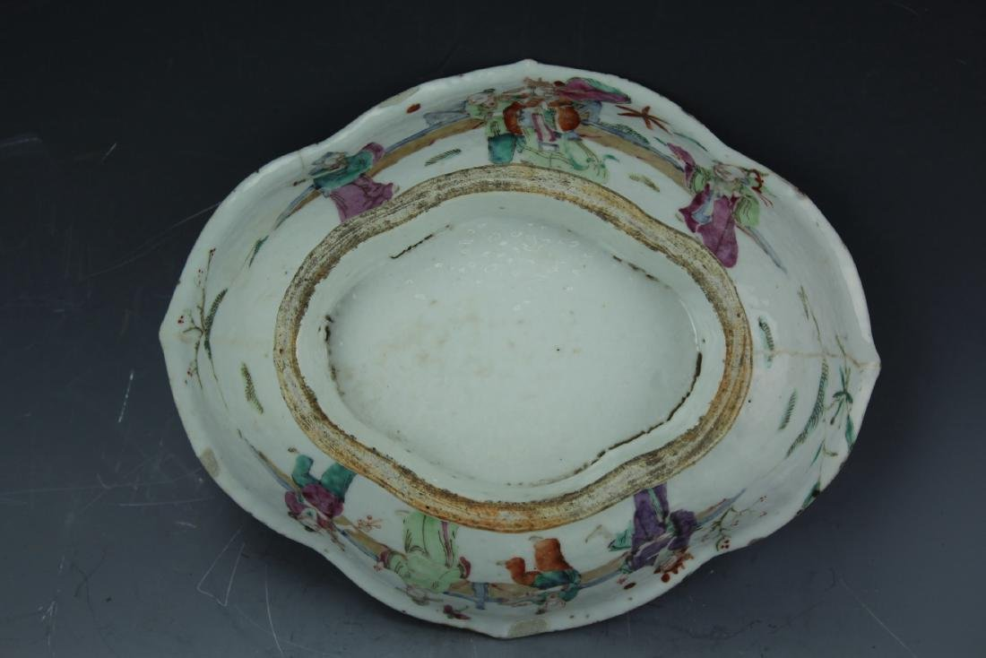 A Famille rose porcelain fruit plate from late Qing - 9