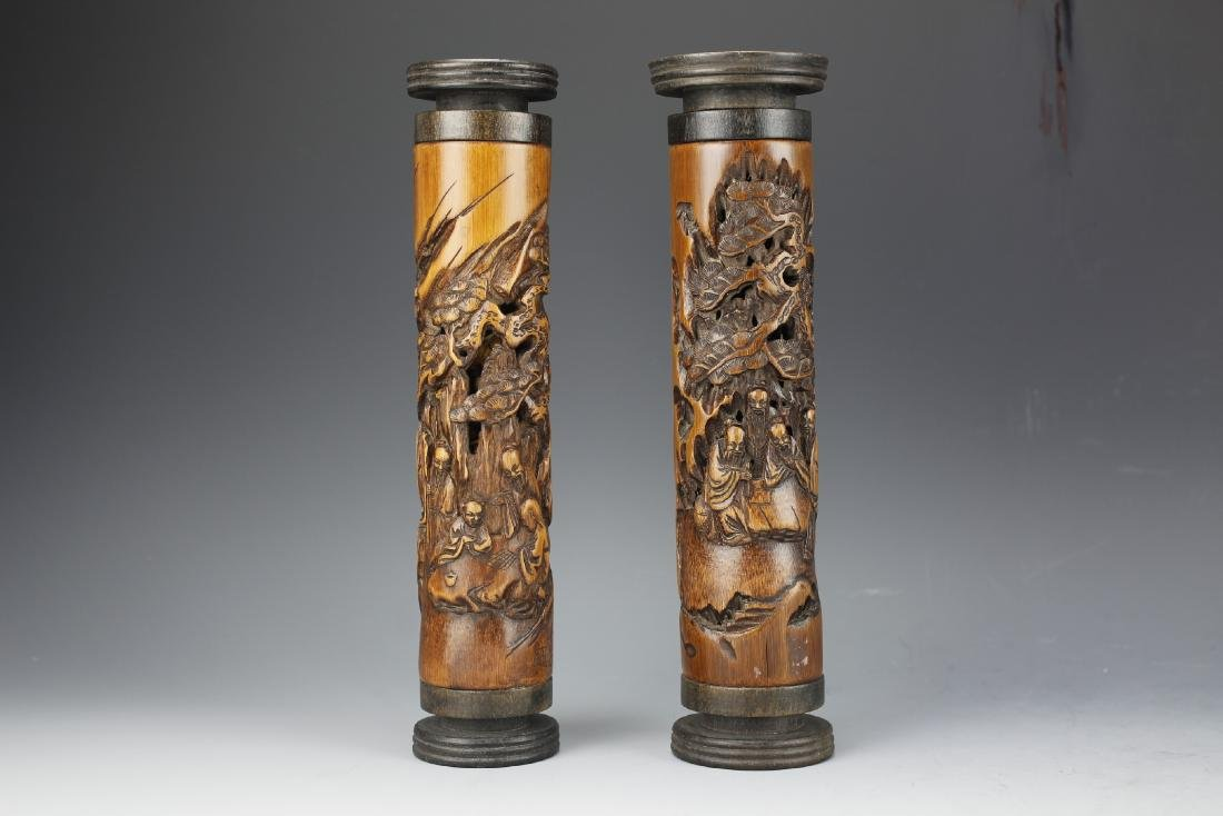 Two Carved Bamboo Air Freshners
