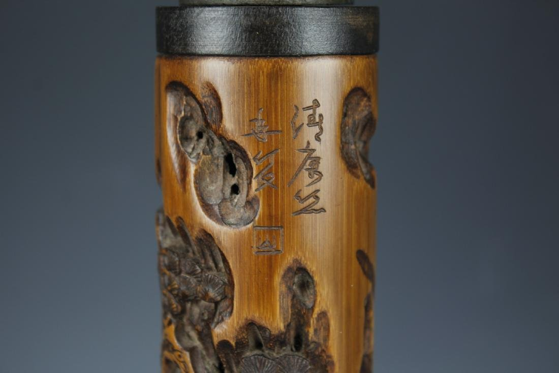 Two Carved Bamboo Air Freshners - 6