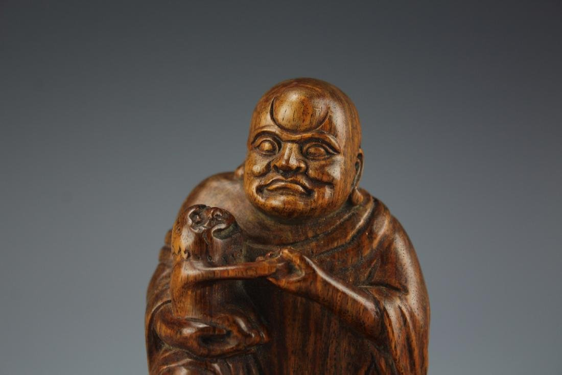 A Carved Rosewood Buddha figure - 2