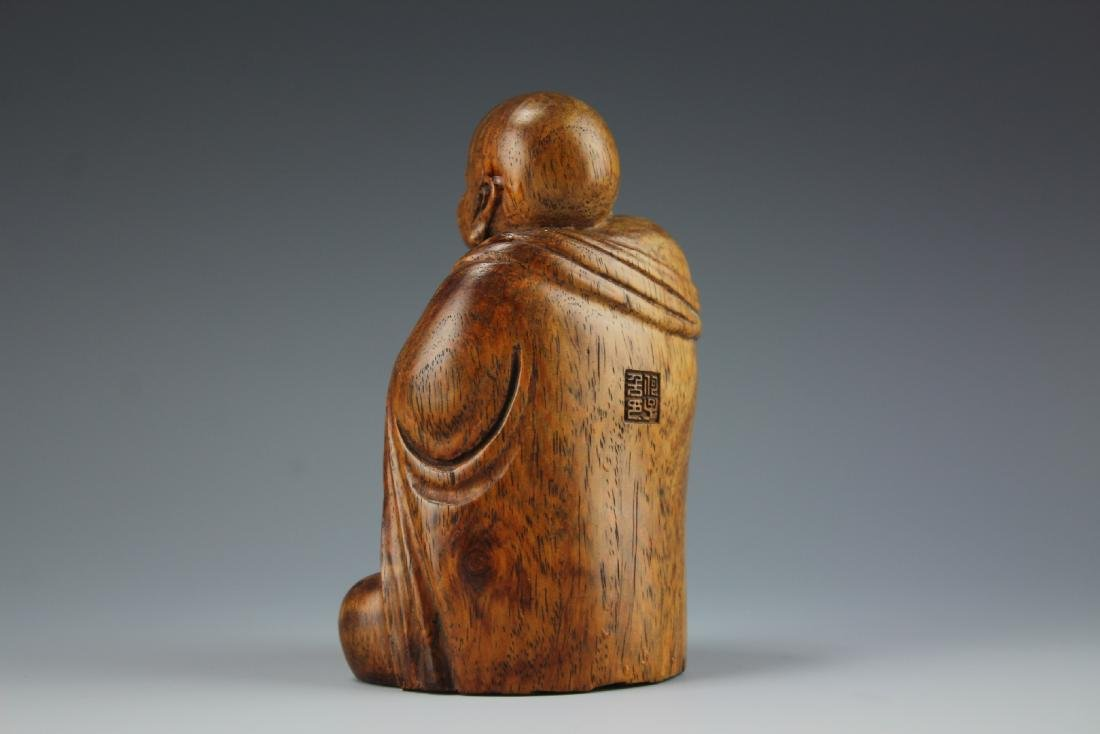 A Carved Rosewood Buddha figure - 4