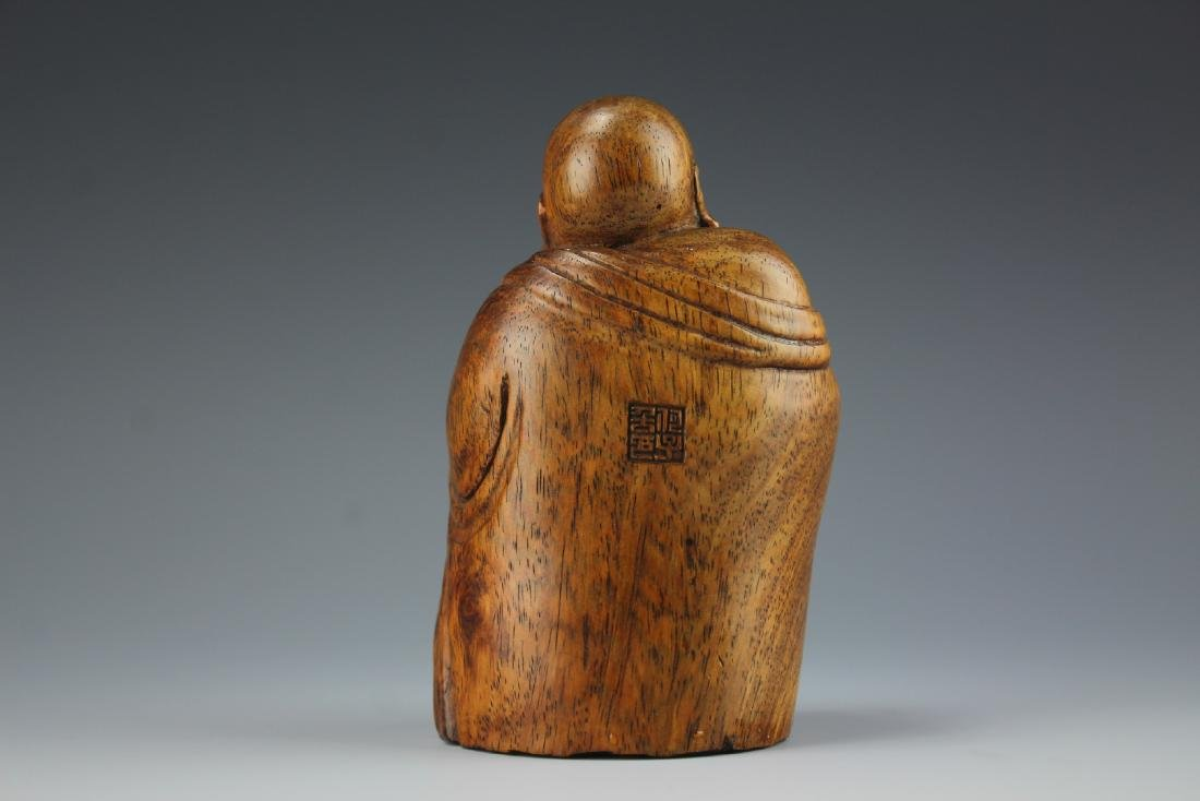 A Carved Rosewood Buddha figure - 5