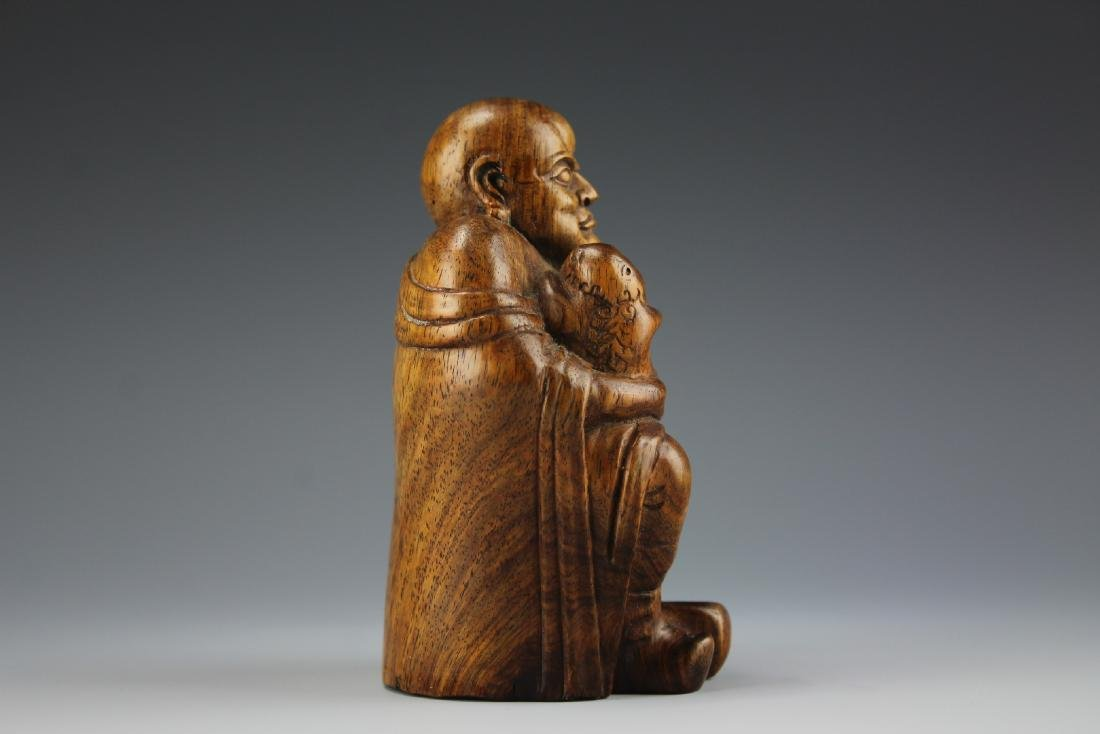 A Carved Rosewood Buddha figure - 7