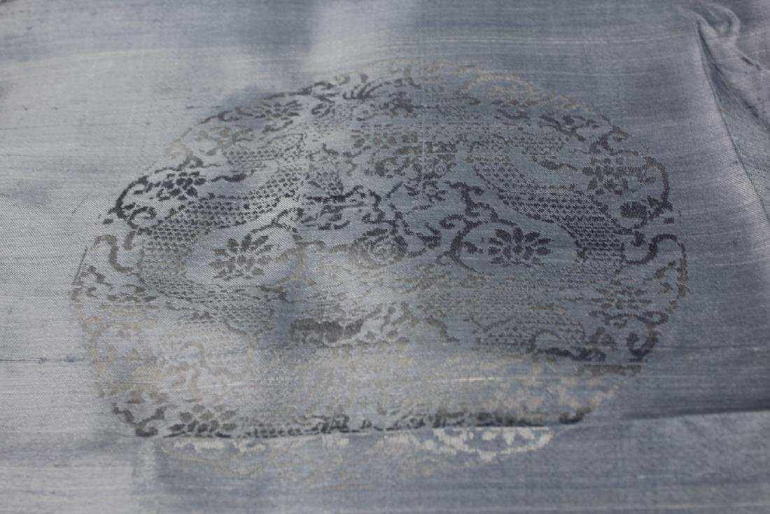 A Long Antique Chinese Silk Textiles/Fabric - 7