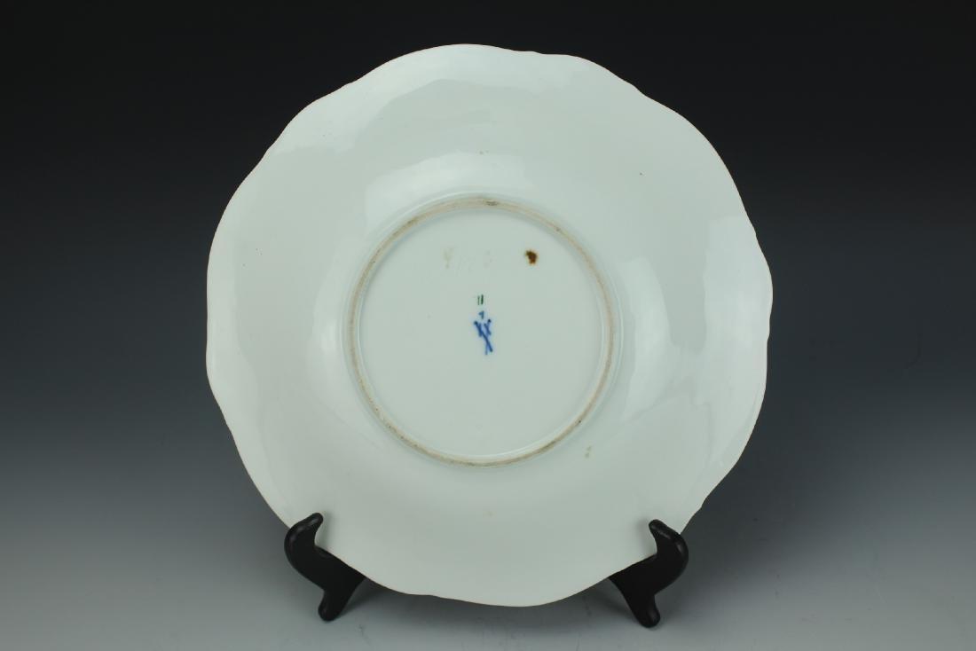 A Vintage 24k Gold Gilt Porcelain Plate by Meissen - 5