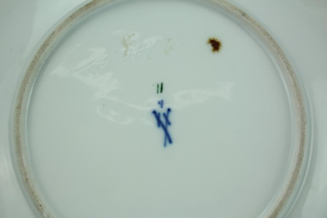 A Vintage 24k Gold Gilt Porcelain Plate by Meissen - 6
