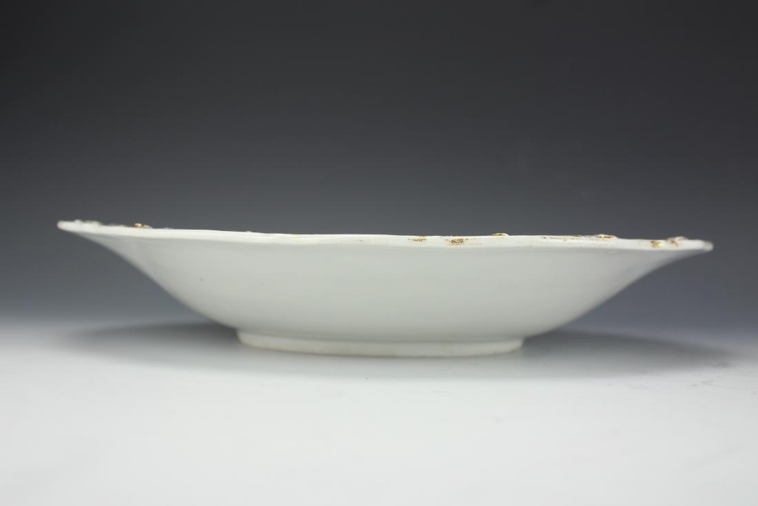 A Vintage 24k Gold Gilt Porcelain Plate by Meissen - 8