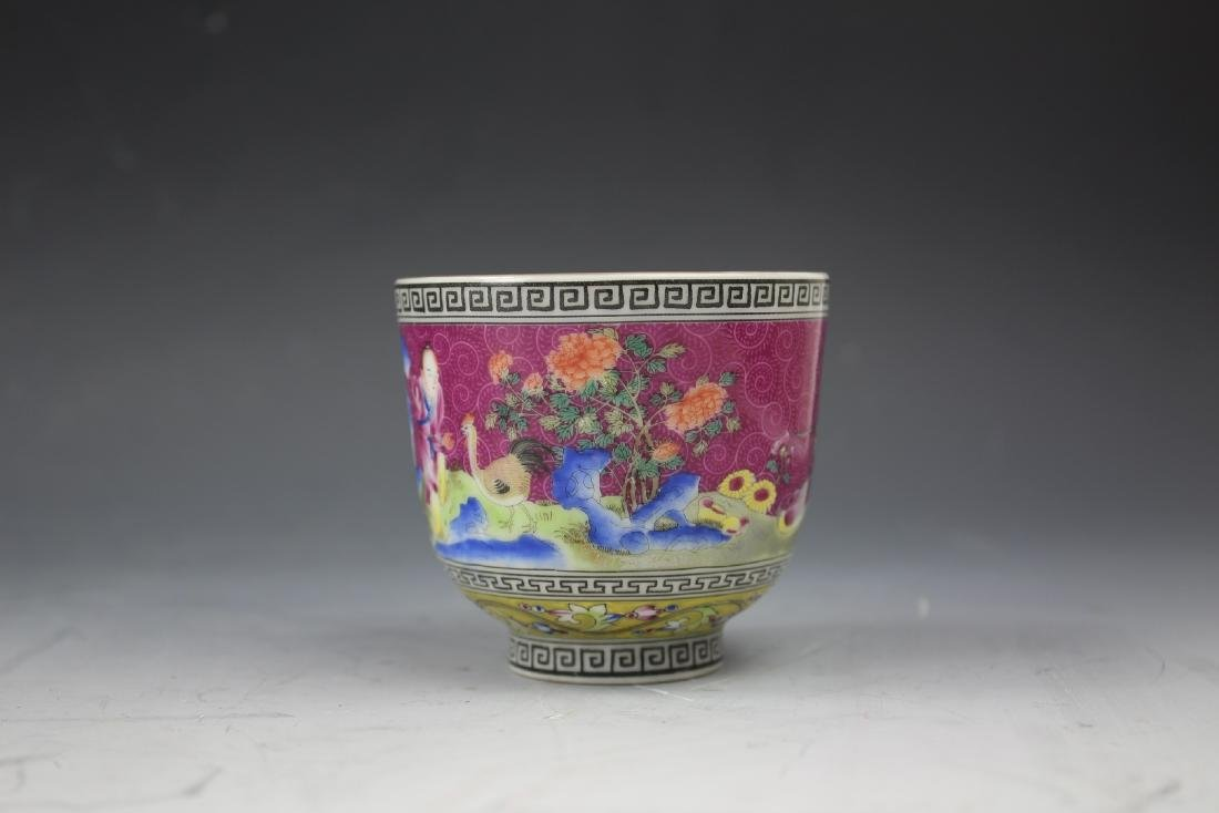 An Enamelled Figural Cup with Qianlong Mark - 2