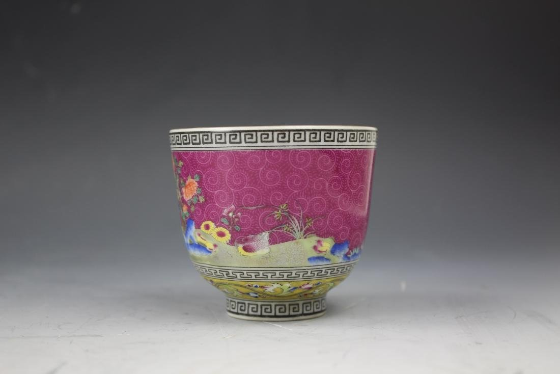 An Enamelled Figural Cup with Qianlong Mark - 3
