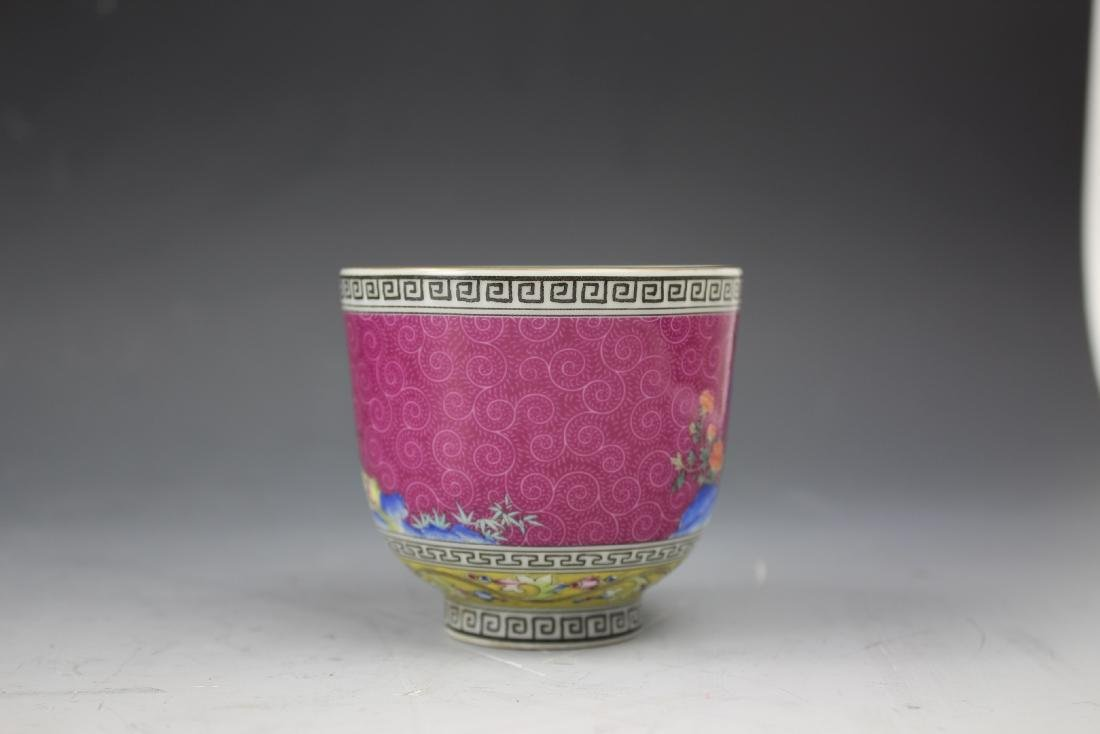 An Enamelled Figural Cup with Qianlong Mark - 4