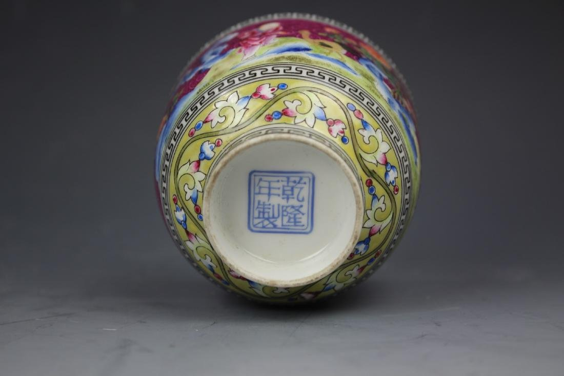 An Enamelled Figural Cup with Qianlong Mark - 8