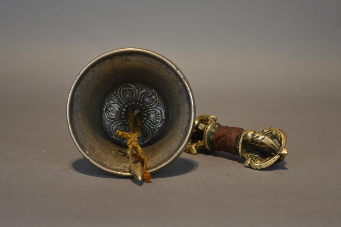 A Bronze Tibetan Vajra and Bell - 4