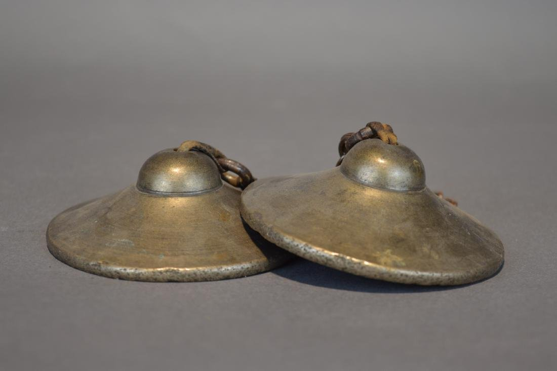 A Pair of Brass Cymbals - 2