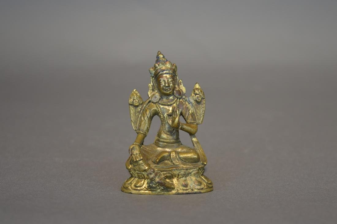 A Gilt Bronze Figure of Green Tara - 2