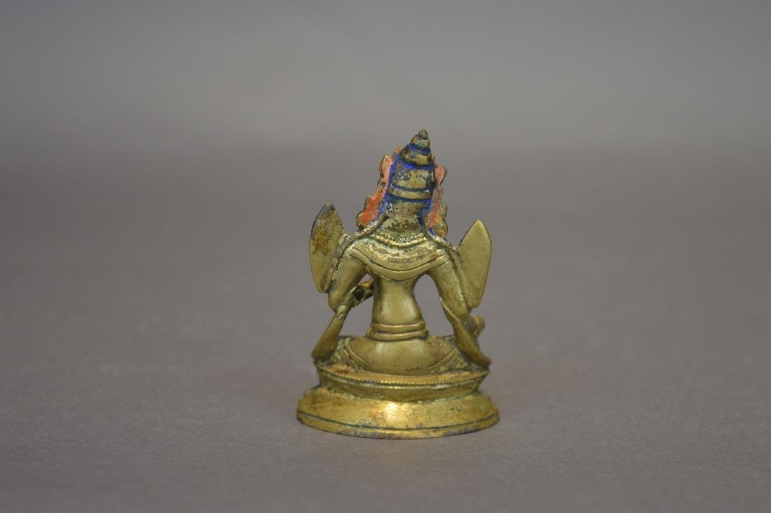 A Gilt Bronze Figure of Green Tara - 4