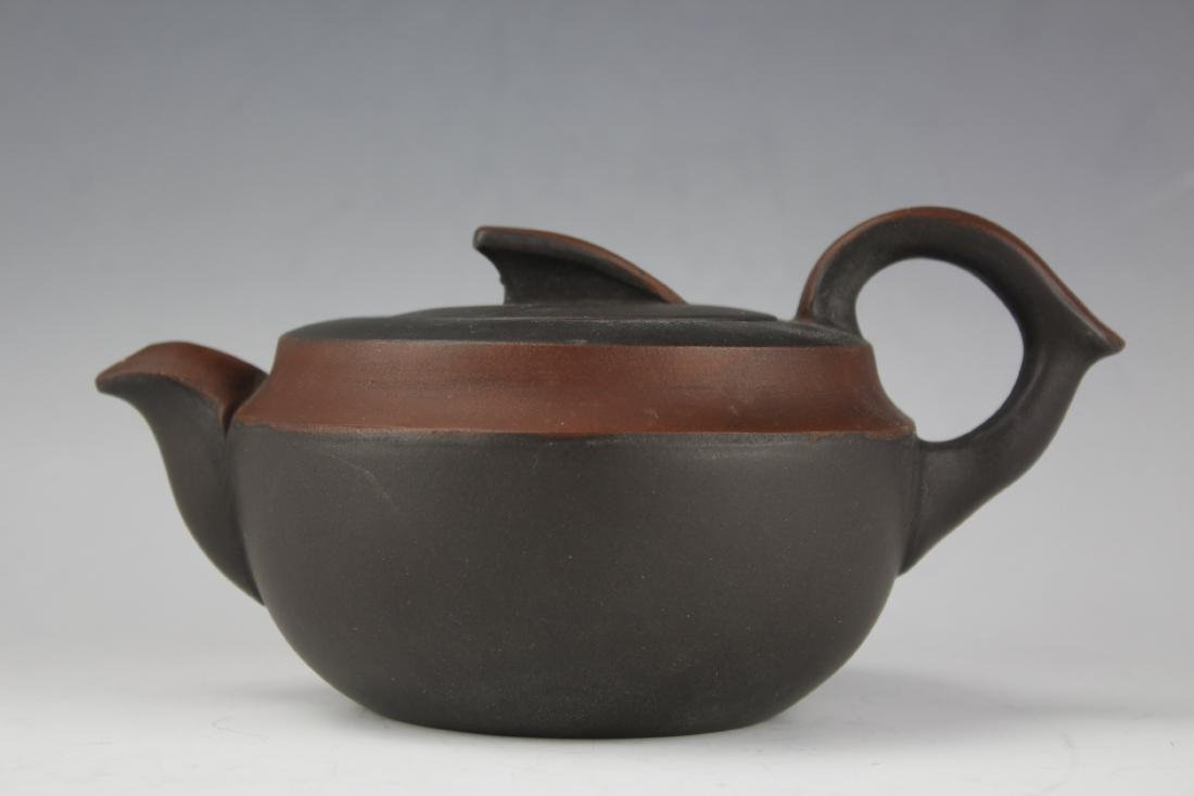 A Zisha Pottery Teapot by Wang Nan Lin