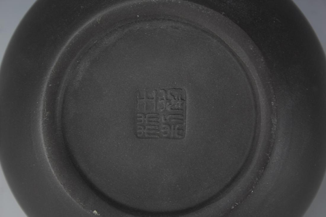 A Zisha Pottery Teapot by Wang Nan Lin - 8