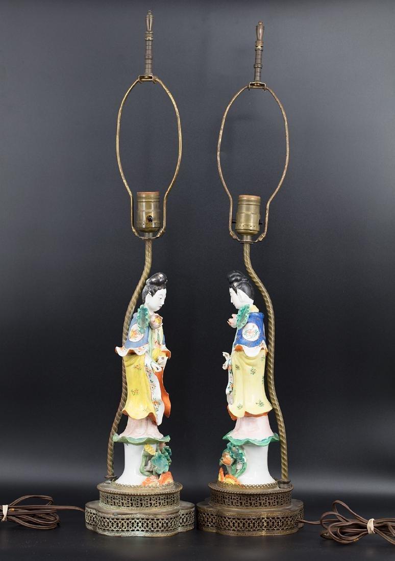 A pair of lamps of beautiful immortals,Tong Rufa Mark - 3