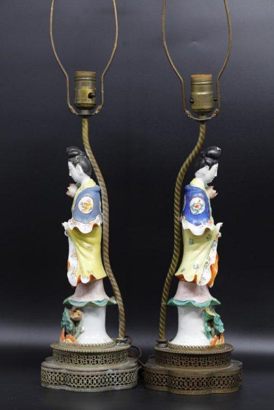 A pair of lamps of beautiful immortals,Tong Rufa Mark - 4