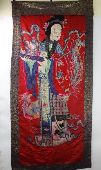 A Chinese Emboroidery of Ma Gu Xian Shou