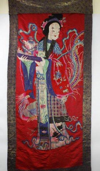 A Chinese Emboroidery of Ma Gu Xian Shou - 2