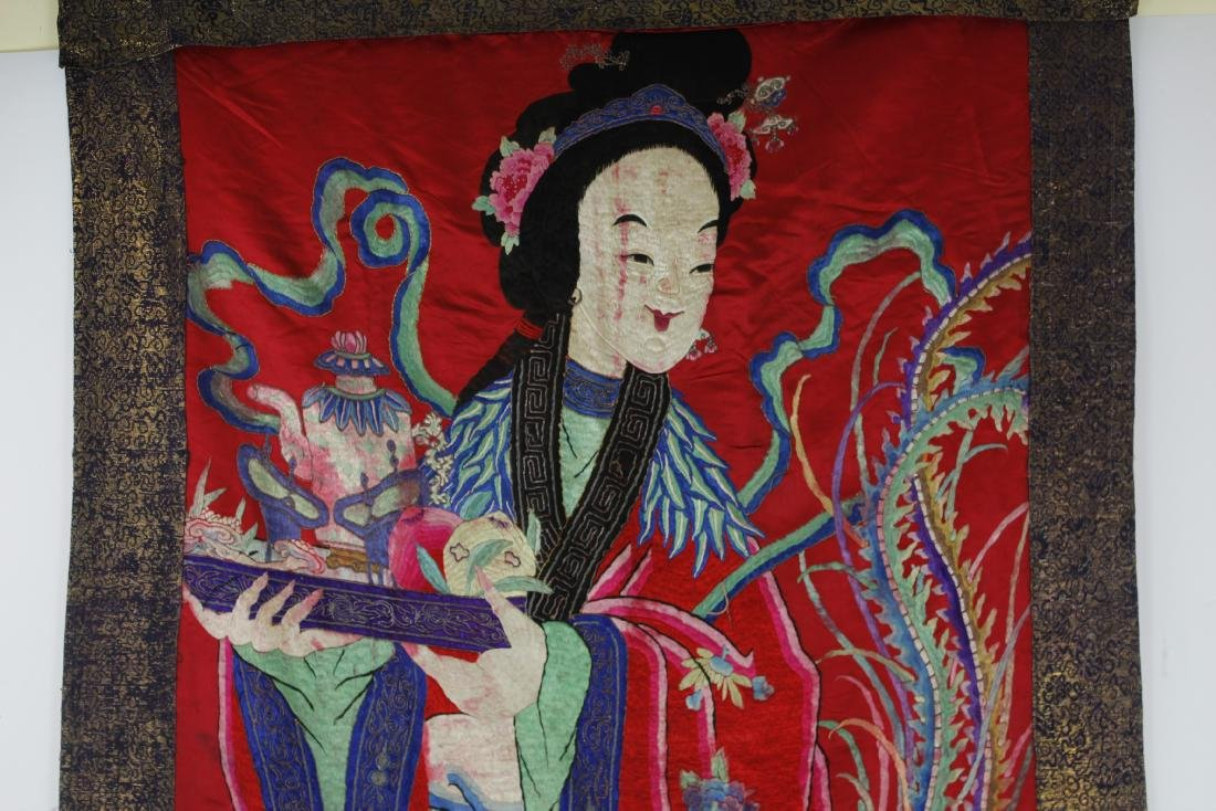 A Chinese Emboroidery of Ma Gu Xian Shou - 4