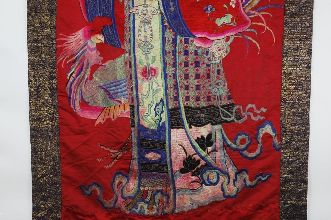 A Chinese Emboroidery of Ma Gu Xian Shou - 5