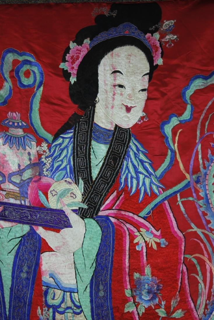 A Chinese Emboroidery of Ma Gu Xian Shou - 6