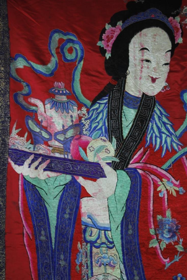 A Chinese Emboroidery of Ma Gu Xian Shou - 7